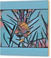 Swan Plant Wood Print