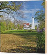 1406 North Point Lighthouse Wood Print