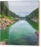 Art Landscape Nature  Wood Print