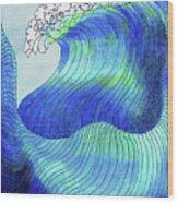 141 - Waves Wood Print