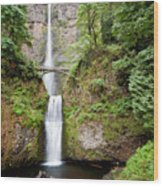 1417 Multnomah Falls Wood Print