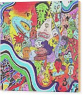 143 - Faces 2 Wood Print