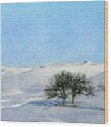 Landscape Oil Painting Nature Wood Print