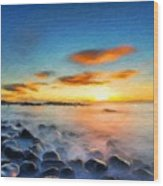 Oil Painting Landscape Pictures Wood Print