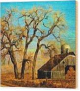 Nature Landscape Painting Wood Print