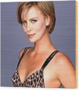 1491 Celebrity Charlize Theron  Wood Print