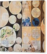 Abstract Painting - Seal Brown Wood Print