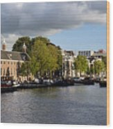Canals Of Amsterdam Wood Print