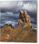 Capitol Reef National Park Catherdal Valley Wood Print