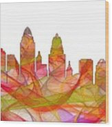 Cincinnati Ohio Skyline  Wood Print