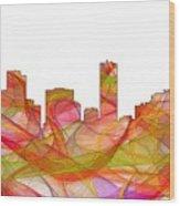 Denver Colorado Skyline Wood Print