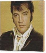 Elvis Presley, Rock And Roll Legend Wood Print