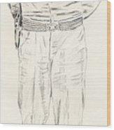 George Patton Wood Print