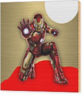 Iron Man Collection Wood Print