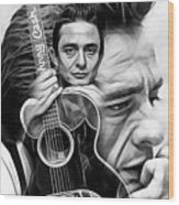 Johnny Cash Collection Wood Print