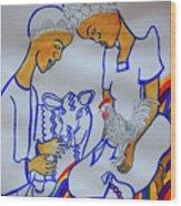 Kintu And Nambi A Ugandan Folktale Wood Print