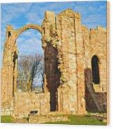Lindisfarne Priory Wood Print