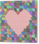 Love Heart Valentine Shape Wood Print