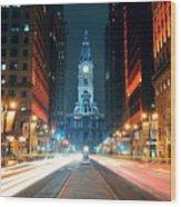 Philadelphia Street Wood Print
