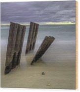 Point Betsie Breakwall Wood Print