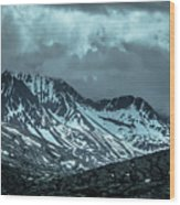 Rocky Mountains Nature Scenes On Alaska British Columbia Border Wood Print