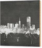 San Francisco City Skyline Wood Print