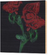 Smoke Art Photography Wood Print