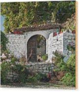 Street In Berat Old Town In Albania Wood Print