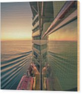 Sunset Over Alaska Fjords On A Cruise Trip Near Ketchikan Wood Print