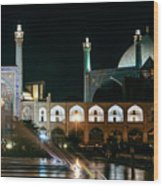 The Shah Mosque Famous Landmark In Isfahan City Iran Wood Print