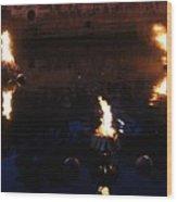 Waterfire Wood Print