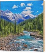 Nature Oil Painting Landscape Wood Print
