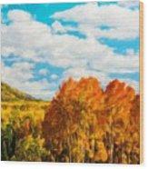 Landscape Painted Wood Print