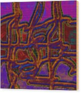 1554 Abstract Thought Wood Print