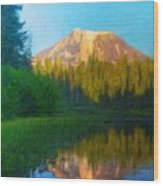 Nature Landscape Paintings Wood Print