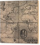 1581 Map By Nicola Van Sype, Showing Wood Print by Everett