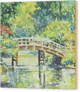159 Mobot Japanese Bridge Wood Print
