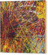 16-10 String Burst Wood Print