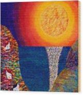16-7 Village Sun Wood Print