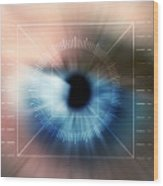 Biometric Eye Scan Wood Print