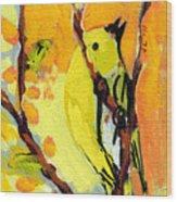 16 Birds No 1 Wood Print by Jennifer Lommers