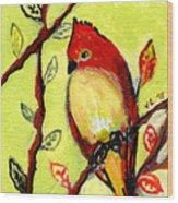 16 Birds No 3 Wood Print