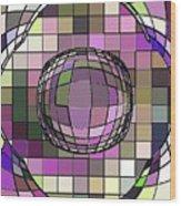 Digital Software Art Wood Print