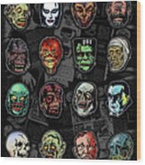 16 Horror Movie Monsters Vintage Style Classic Horror Movies  Wood Print