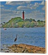 16- Jupiter Lighthouse Wood Print