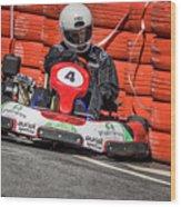 Karting Portugal Pacos De Ferreira Wood Print
