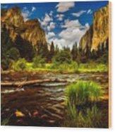 Landscape View Wood Print