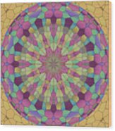 Mandala Ornament Wood Print
