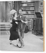 Silent Film Still: Dancing Wood Print by Granger