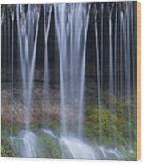 Water Flowing Over Rocks Wood Print
